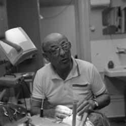 Tandläkare Gunnar Witkowsky, interiörer från mottagningen.