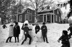 Böle skola i Sidsjön, Sundsvalls minsta skola 1962. Exteriör
