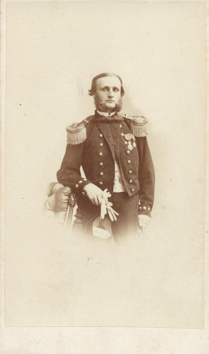 Leopold von Horn, år 1865, gift med Adéle Rettig.