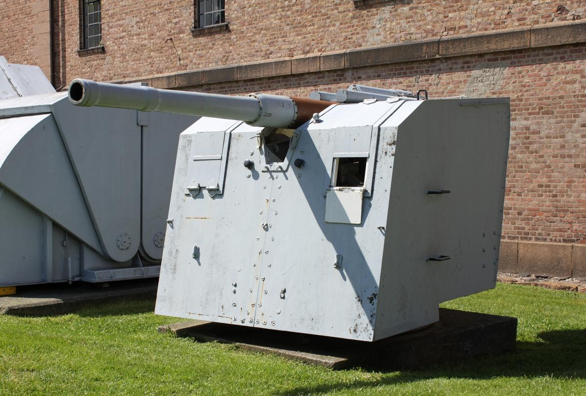 Tysk 10,5cm SKC/32 kanon. (SK - Schnellladekanone  C - Construktionsjahr)