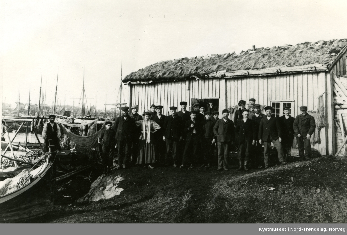 Sør-Gjæslingan, fiskere i søndagsstas