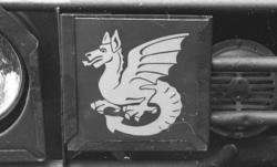 Militärmästerskap Motor. Fordonsskylt, A 3.