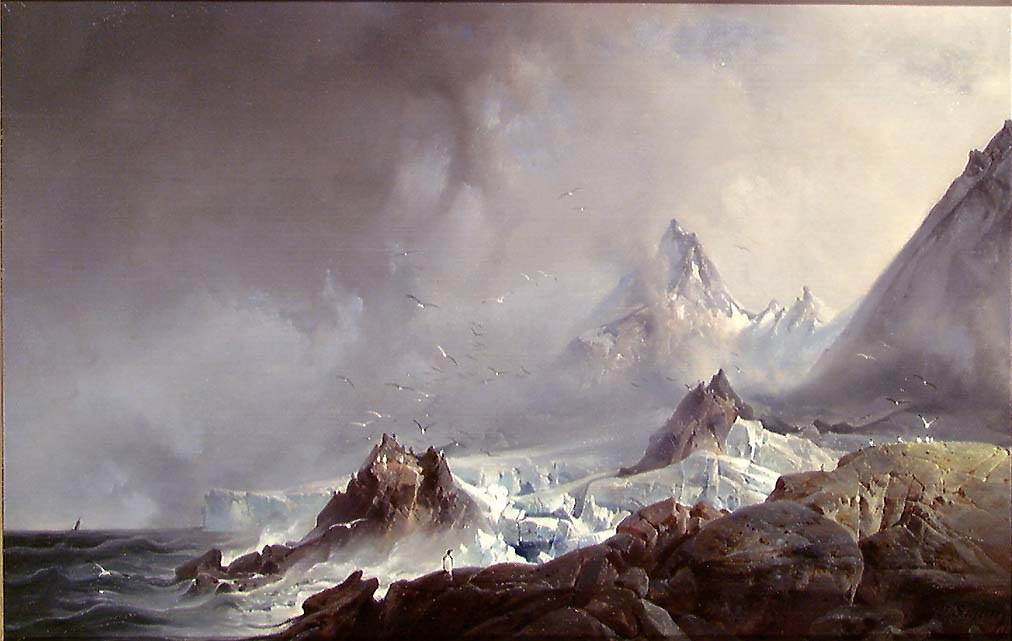 Landskap fra Norskøyene på Spitsbergen [Maleri]