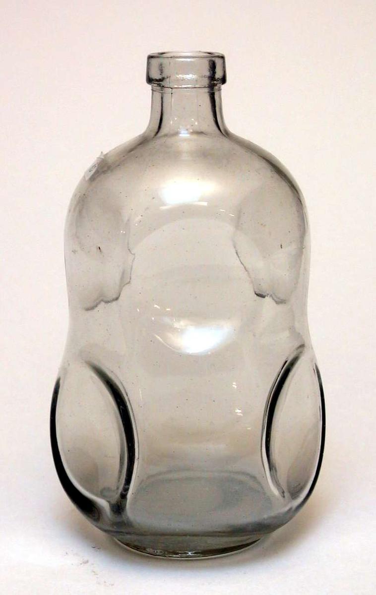 Vin/brennevinsflaske uten kork.