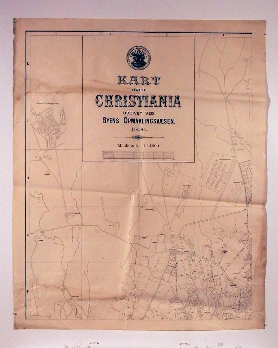 Kart over Christianina i 6 blad.