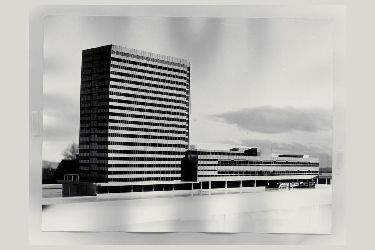 eksteriør, postterminal, Oslo, Postgiro, modell