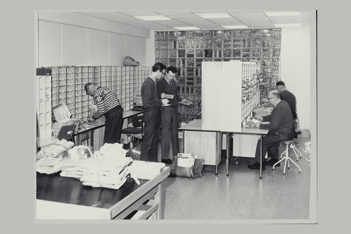 interiør, postkontor, 2400 Elverum, sortering
