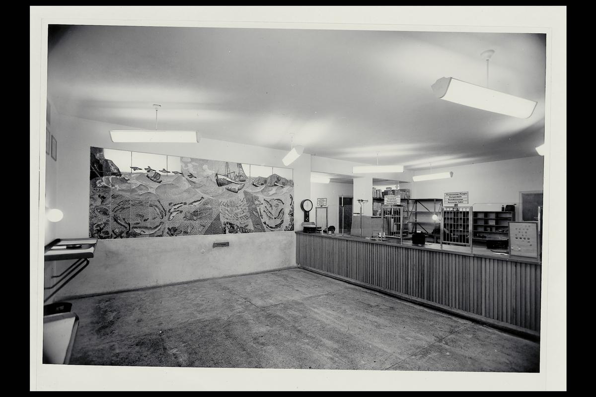 interiør, postkontor, 9750 Honningsvåg, publikumshall, vekt