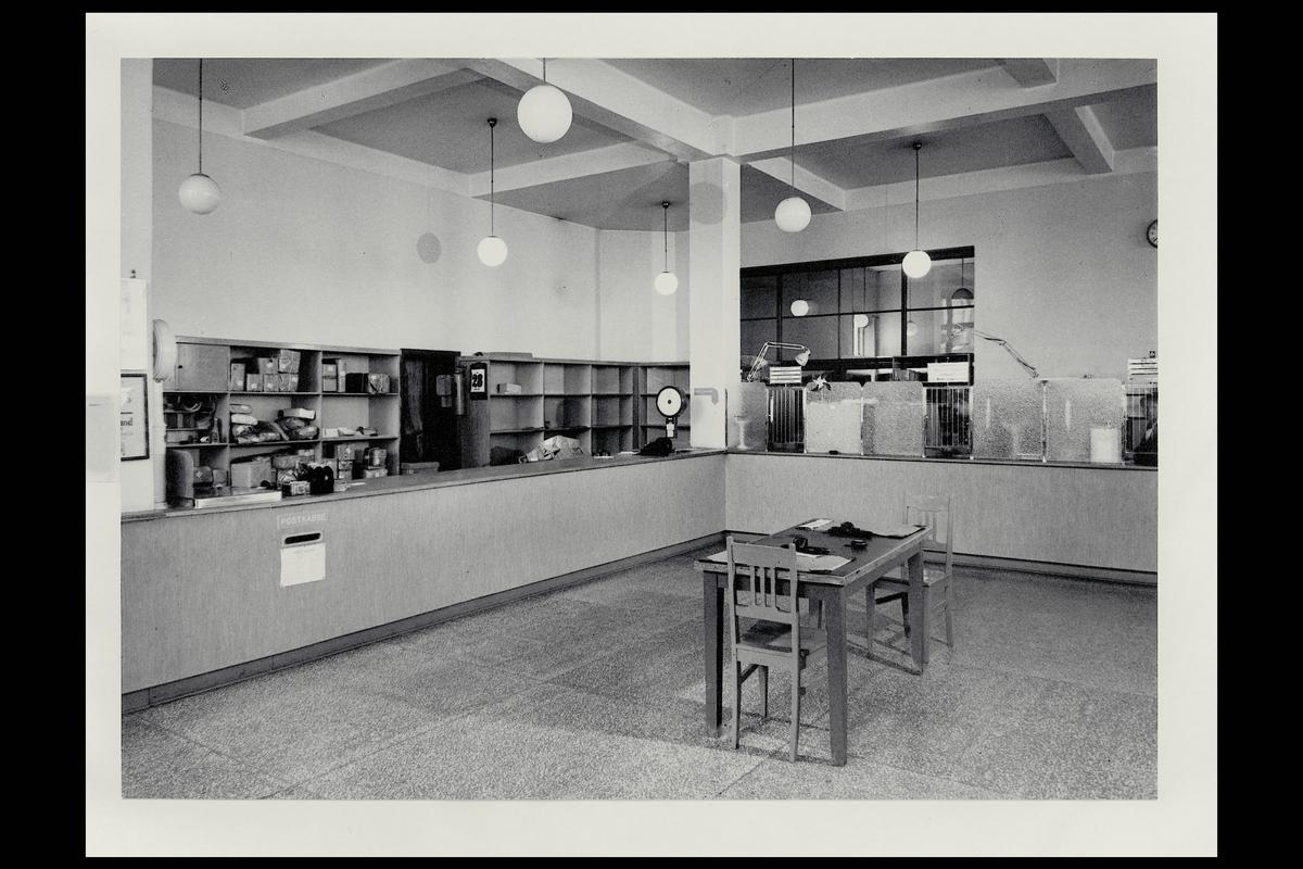 interiør, postkontor, 4604 Kristiandsand S, publikumshall, vekt