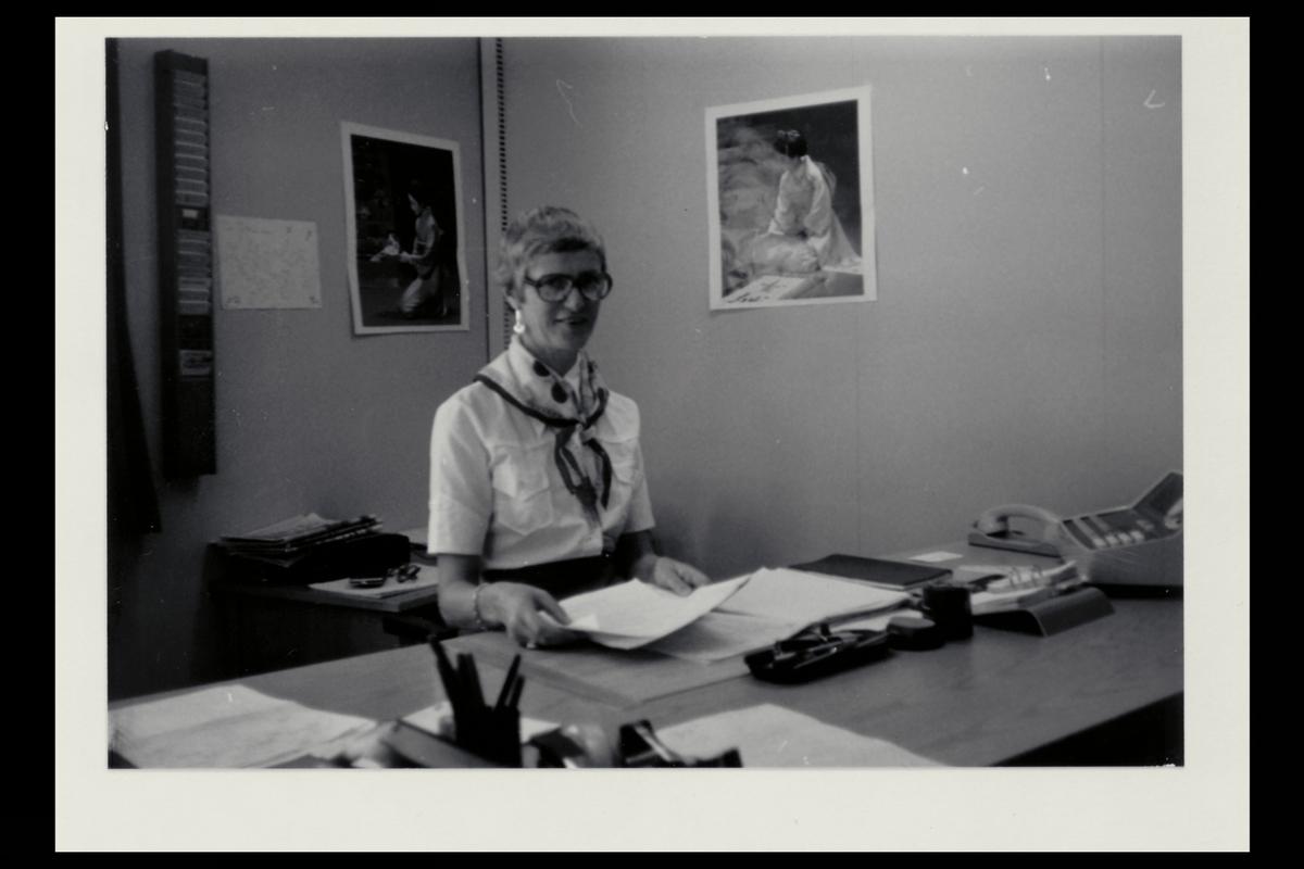interiør, 7. postdistrikt, kontor, kvinne