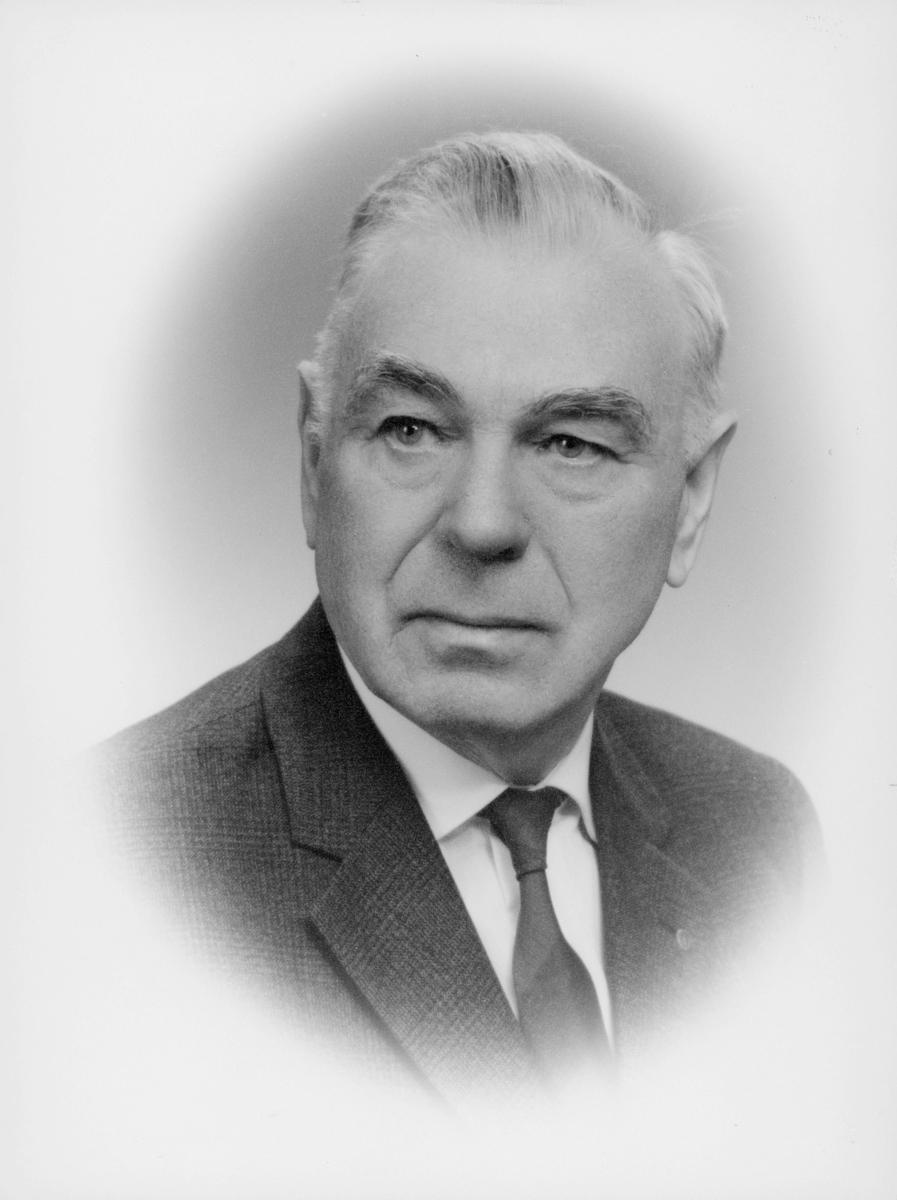 postmester, Hauge Ludolf Andreas Møinich, portrett