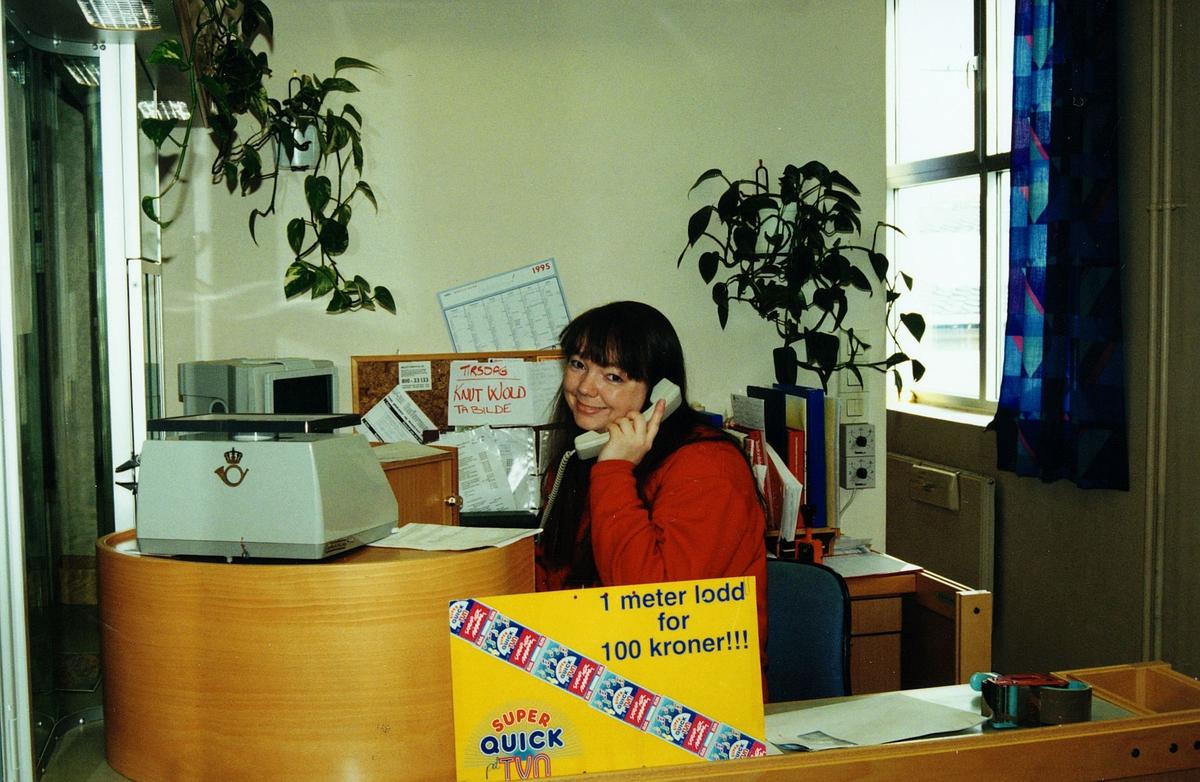 personale, postkontor, 9600 Hammerfest, kvinne, 2.plass i quicklodd salg