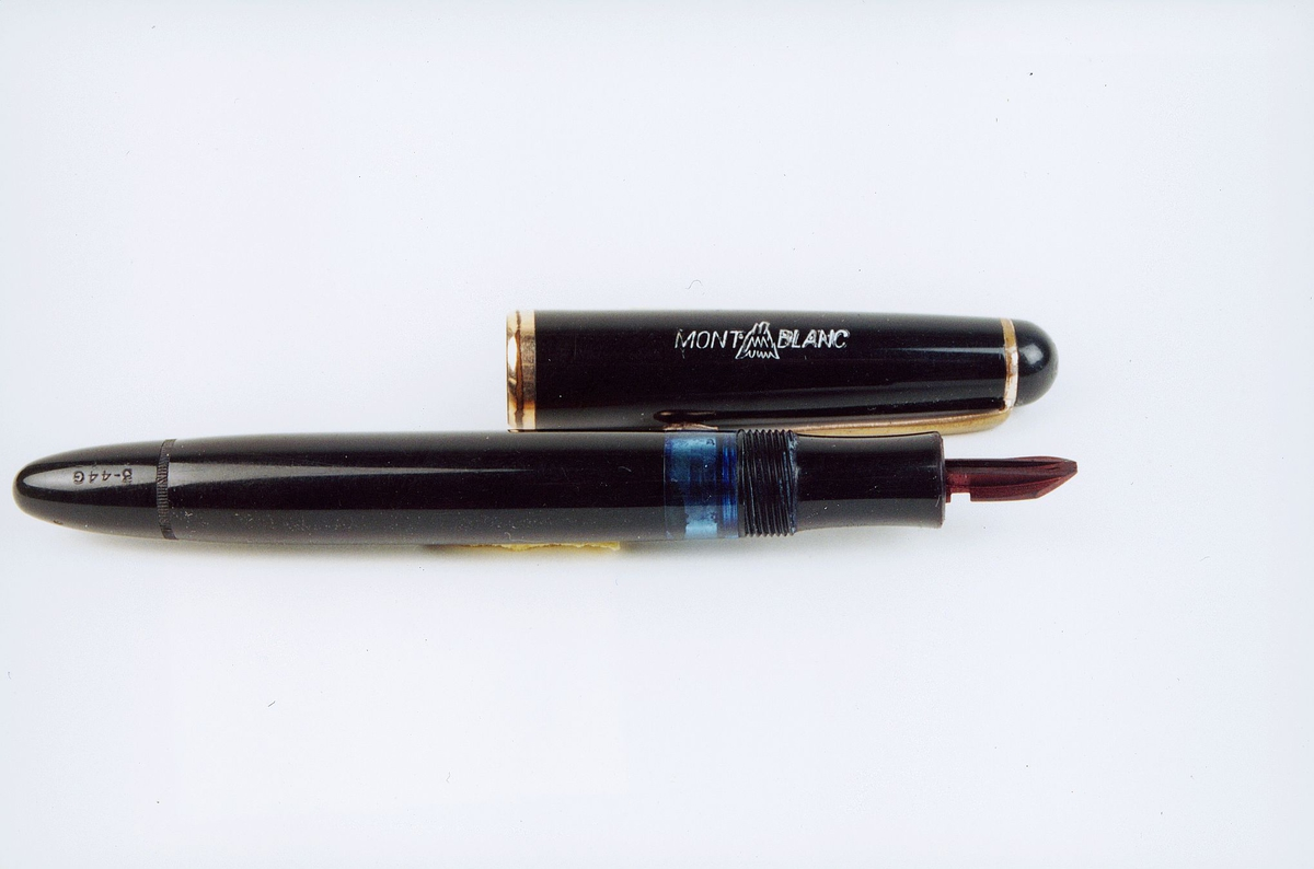 postmuseet, gjenstander, penn, fyllepenn, Mont Blanc