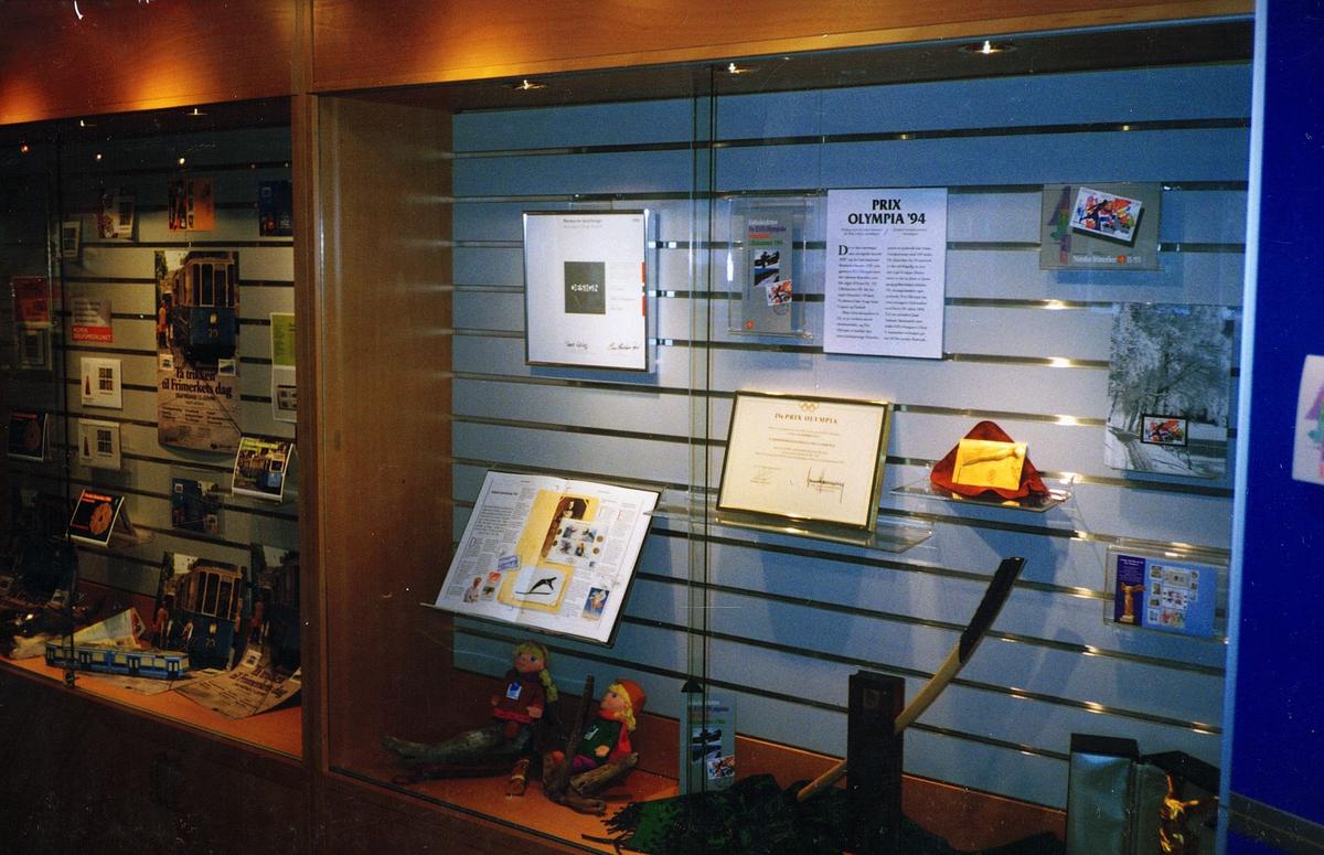 frimerketjenesten, Oslo, Schweigaards gate 33 B, butikken, utstilling av produkter
