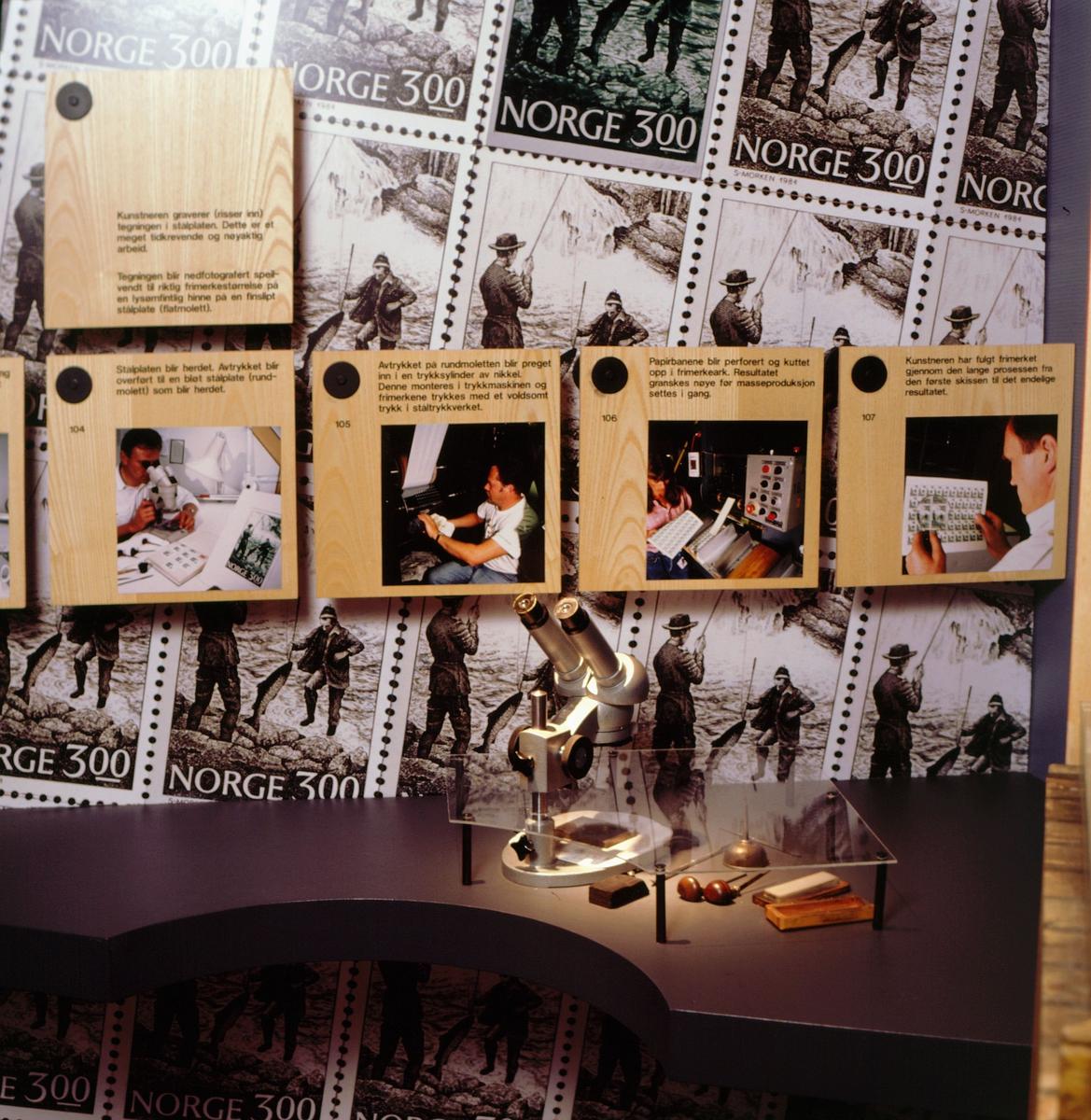 postmuseet, Kirkegata 20, utstilling, frimerkegangen, NK 948