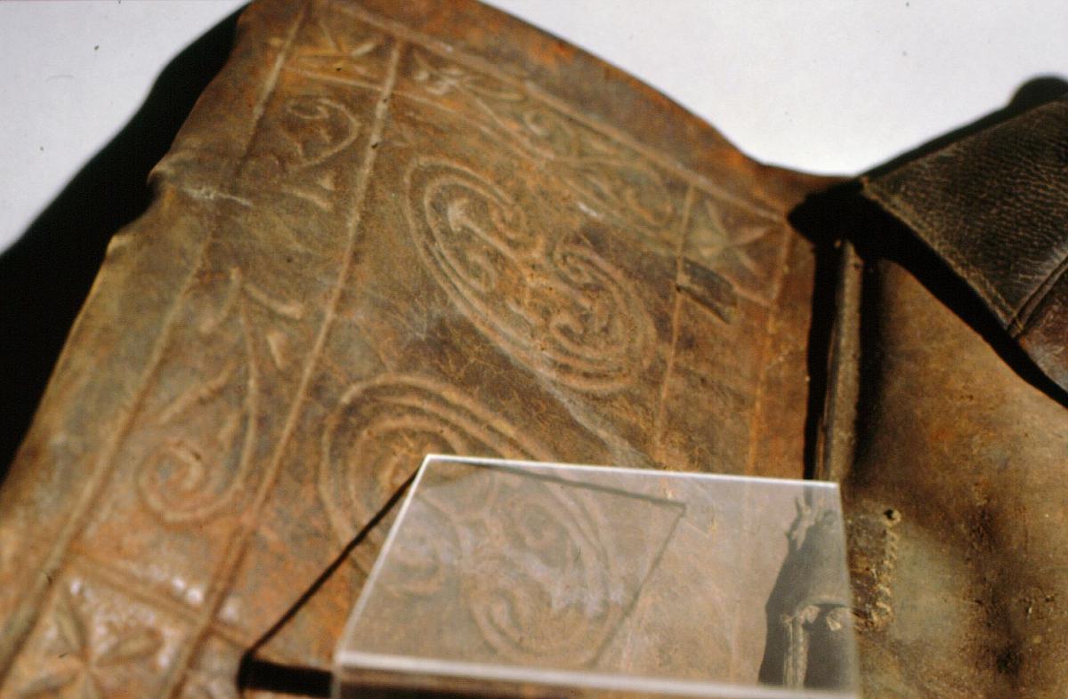 postmuseet, gjenstander, postveske, skader / tørrhet, før konservering