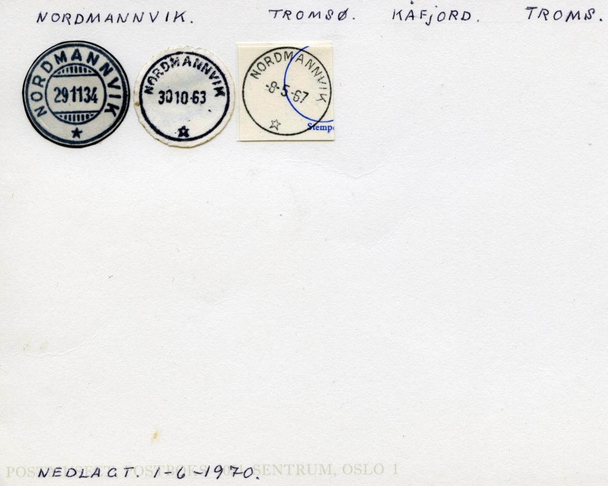 Stempelkatalog Nordmannvik, Tromsø, Kåfjord, Troms