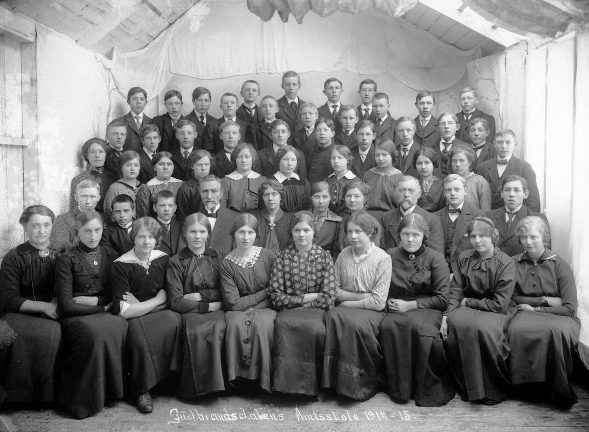Kort : Gudbrandsdalens Amtsskole 1914 - 15, 10.03.1915.