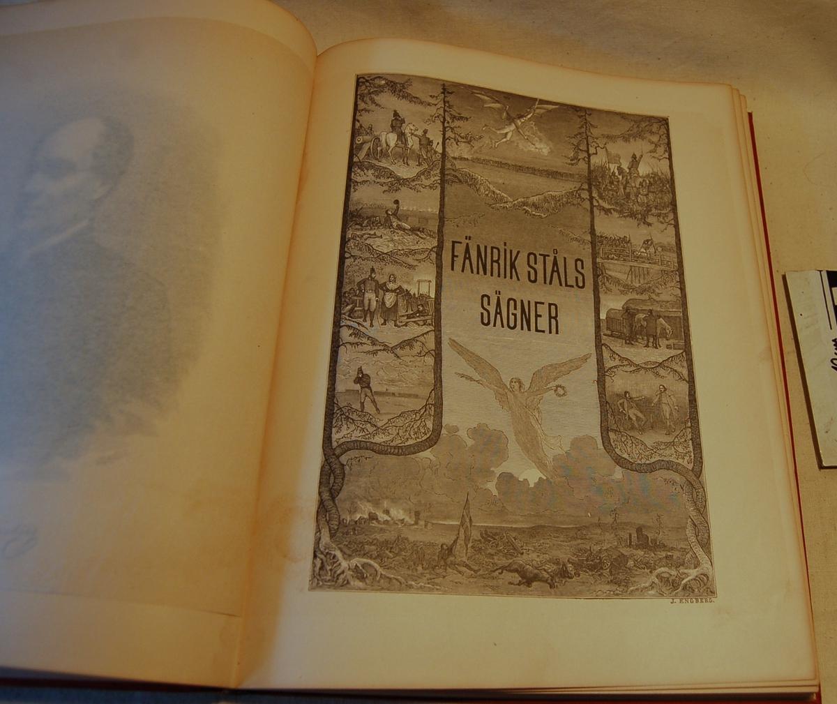 På bokens forside er et motiv av to menn som sitter i samtale i stuen. Rundt dette motivet finnes en bord med mange andre skildringer av bokens innhold