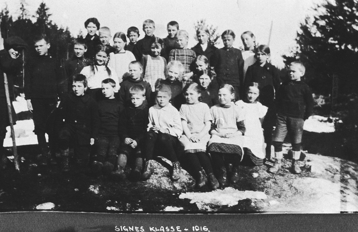 4. kl. Kolbotn Folkeskole i 1916 (siden realsk. nå Kapellvn)