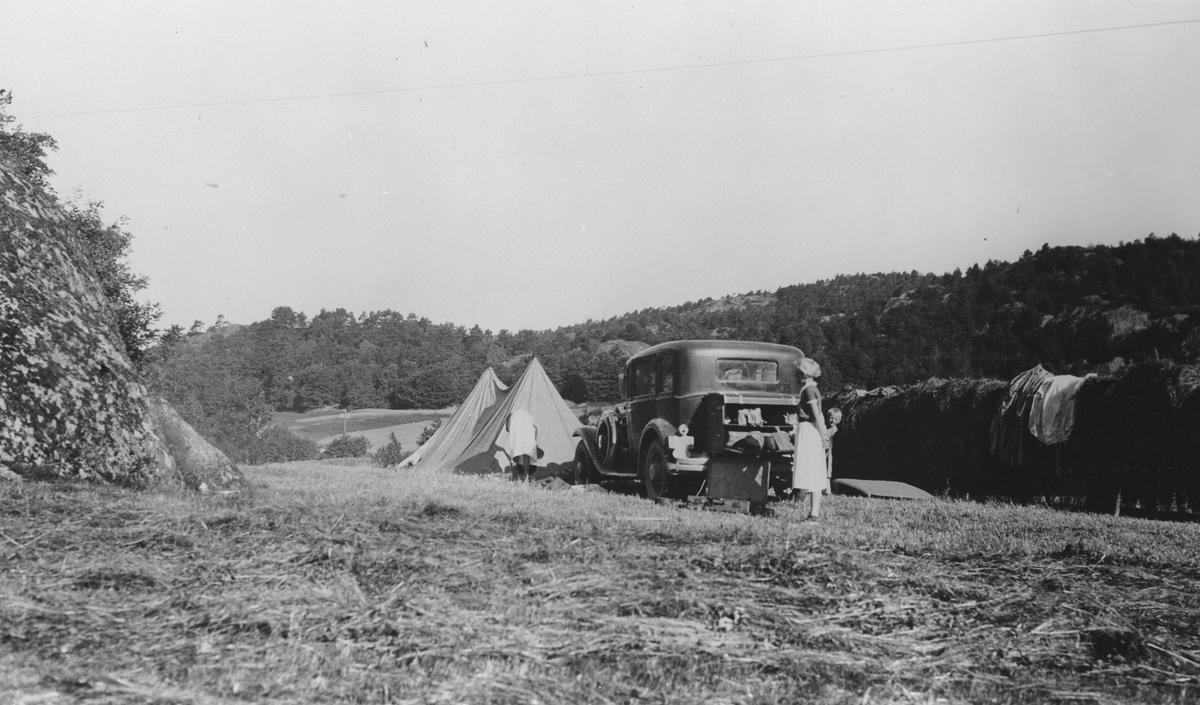 På campingtur til Sørlandet med telt og bil
