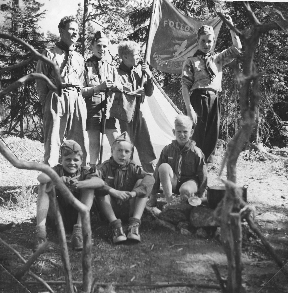 Kretskonkuransen på Sterkerud i 1952. Myrvoll tropp vant.
