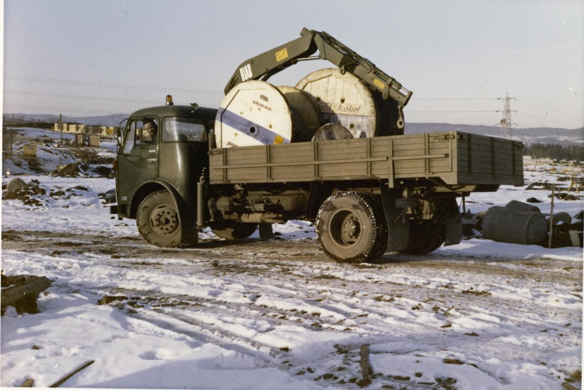 Transport av kabel, Skjettenbyen.