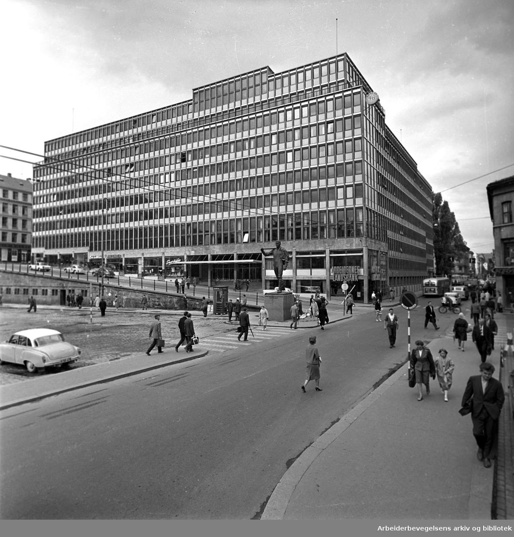 Folkets Hus står ferdig,.juni 1962