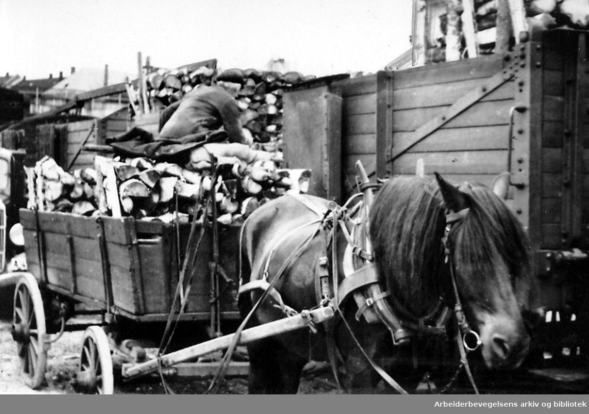 Vedforsyningen i Oslo,.juli 1940