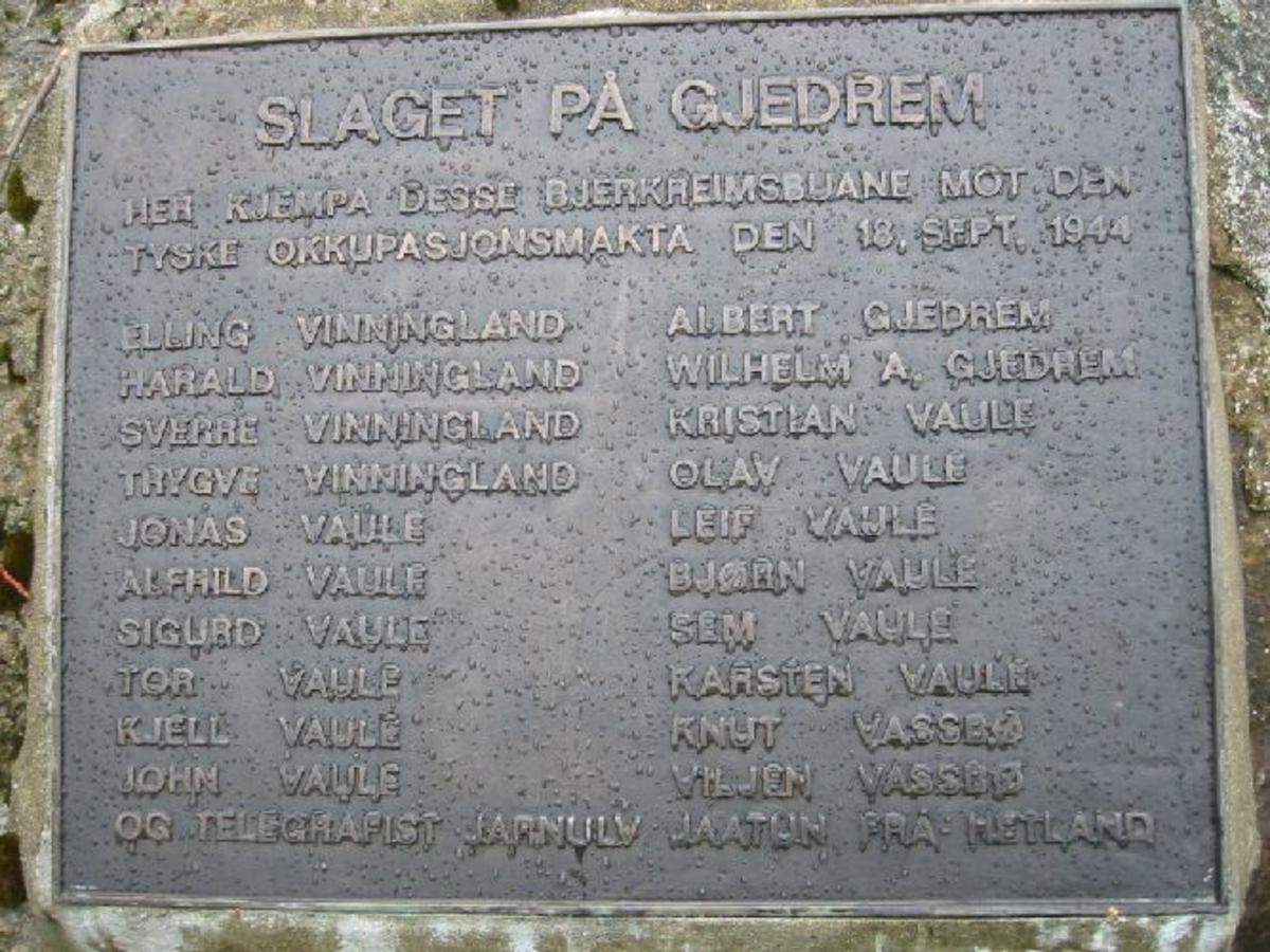 Minneplate i bronse på fjellet ved rasteplass.