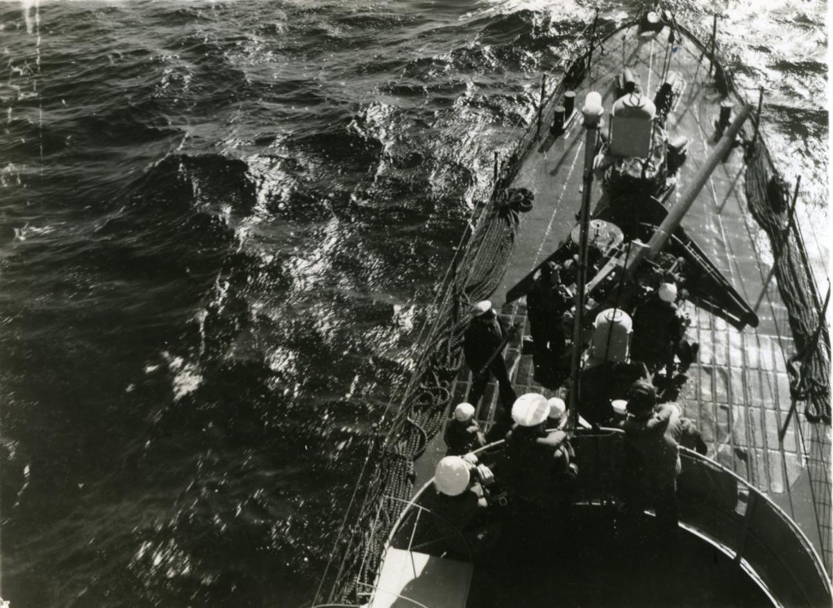 Album Ubåtjager King Haakon VII 1942-1946 Fra jomfruturen med Haakon VII.