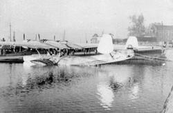 Dornier Do 24. tysk båtfly, Hamar Brygge,2.verdenskrig