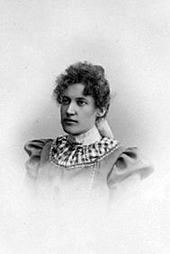 PORTRETT: MINA BØRRESEN FØDT: SKRAASTAD 1875, SKRÅSTAD ØVREDubb: 414-2245.