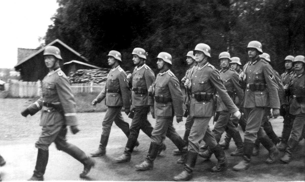 Tyske soldater på Vestad