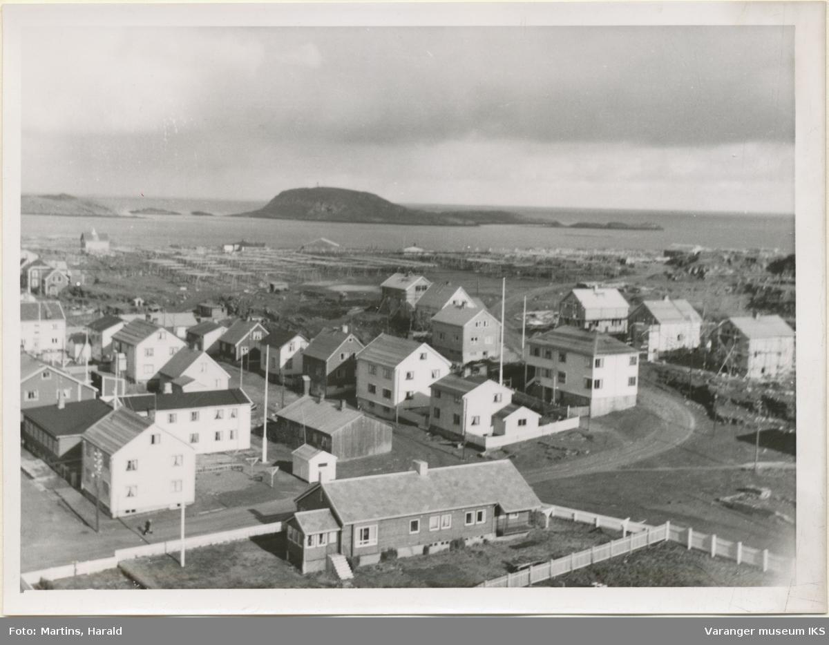 Vestervågen og Rømoen, sett fra kirketårnet, 6. september 1956
