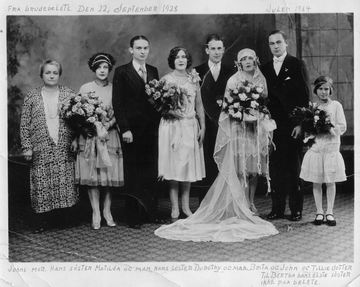 Bryllaup, 3 brudepar, gruppe, 8,