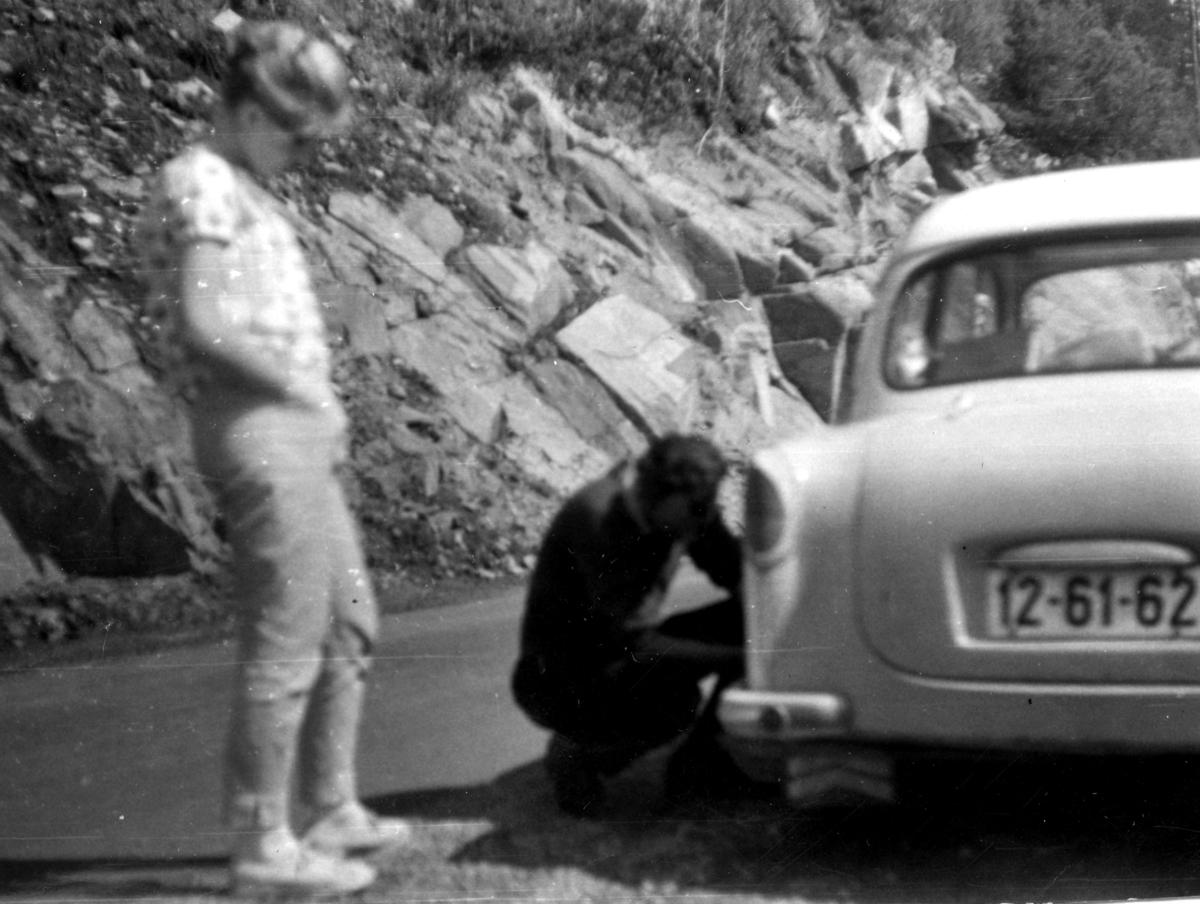 Campingtur med punktering
