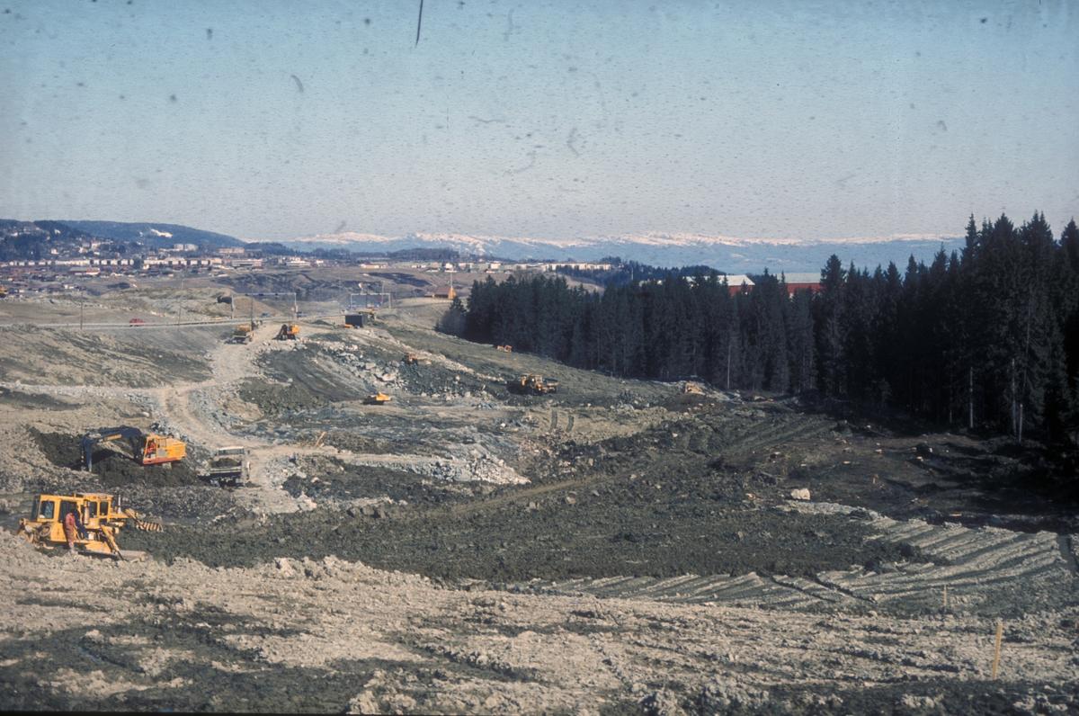 Planeringsarbeid i forbindelse med bygging av ny E-6 mellom Sluppen og Tonstad.