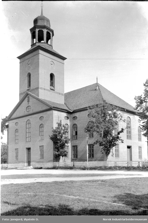 Kongsberg Kirke, eksteriør.