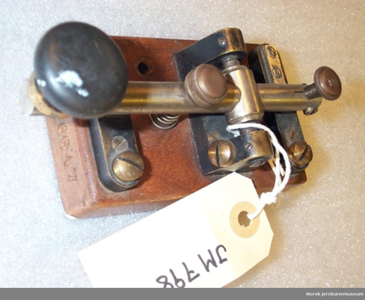 Morsenøkkel til øvelse - Nøkkel til morselegraf