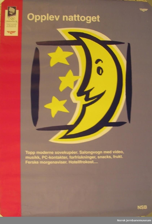 Reklameplakat OL'94 : Opplev nattoget