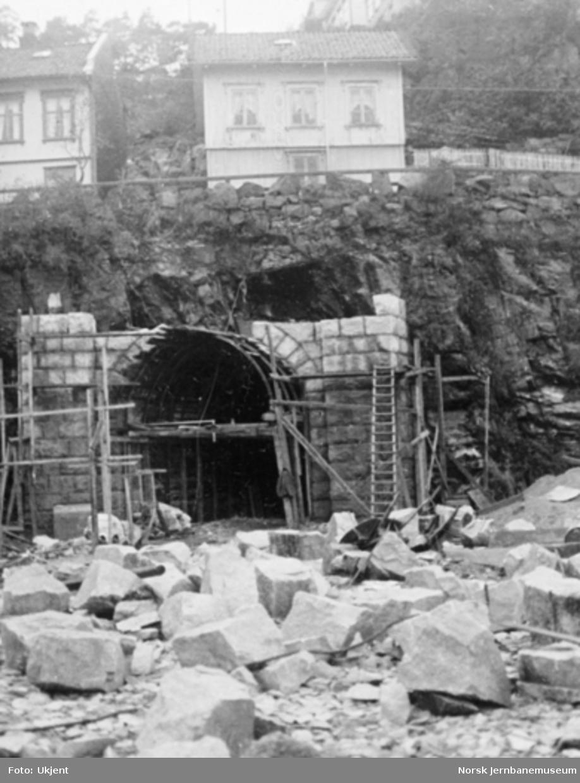 Tangenheia tunnel, støping av tunnelportal