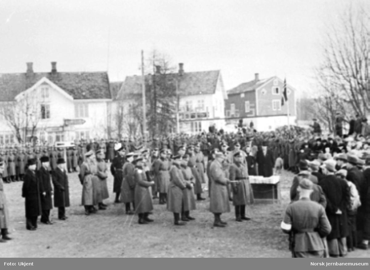 Åpningen til Mo i Rana mars 1942