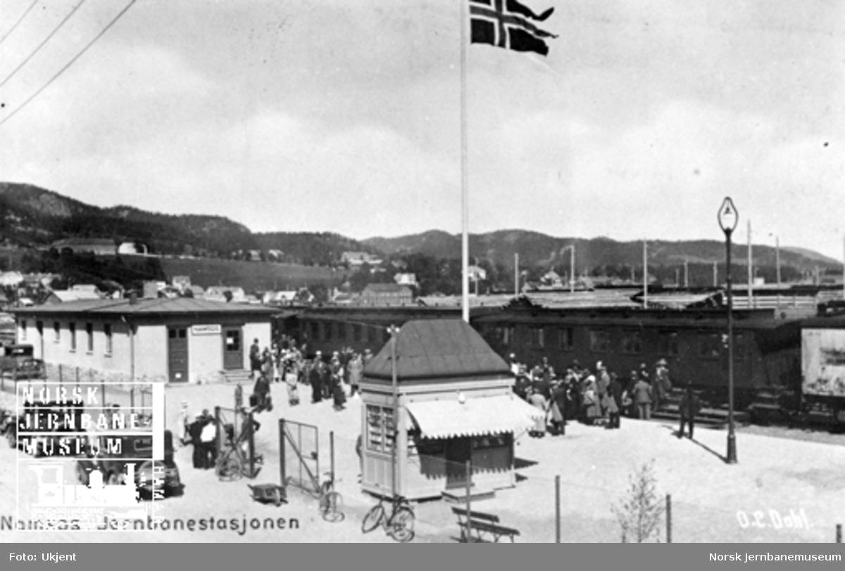 Namsos stasjon, trolig ved eller like etter banens åpning