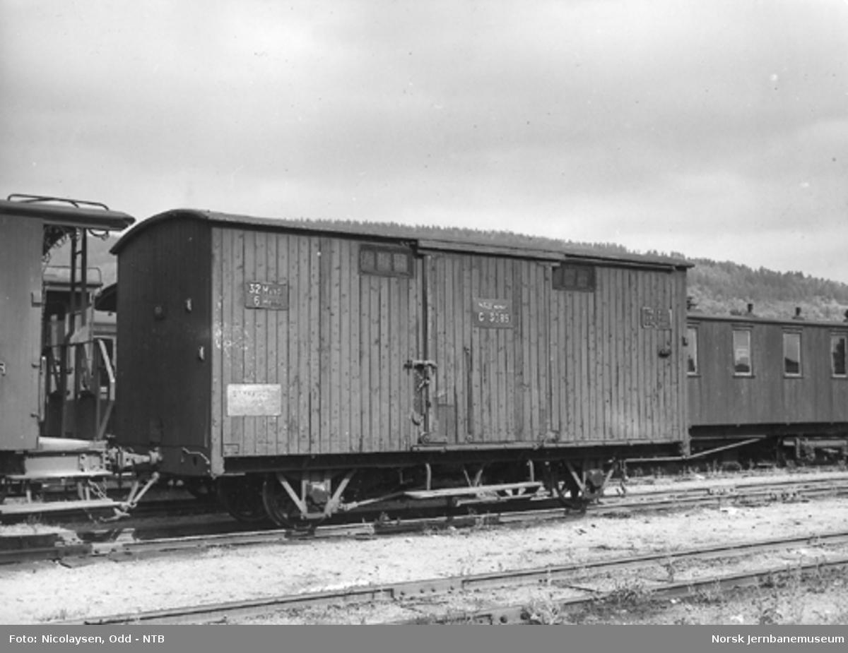 Smalsporet godsvogn fra Vestfoldbanen litra G nr. 3089