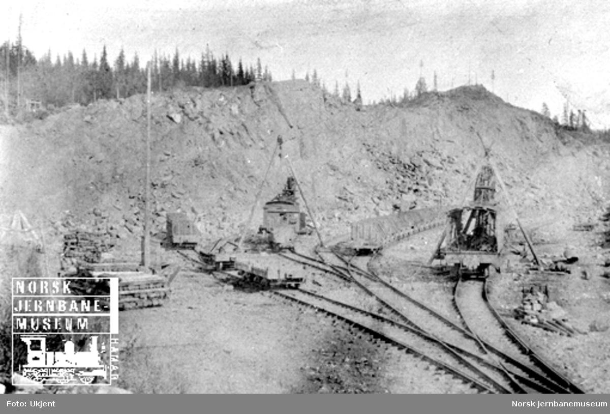 Dunderlandselskapets anlegg på Storforshei : dampskuffer i arbeid ved Ørtvann