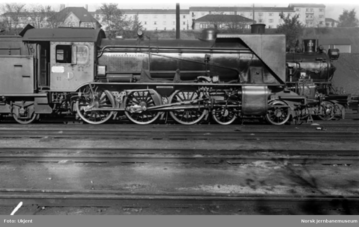 Damplokomotiv type 45a nr. 1 i Lodalen