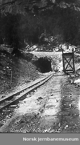 Innslag til Omland tunnel øst