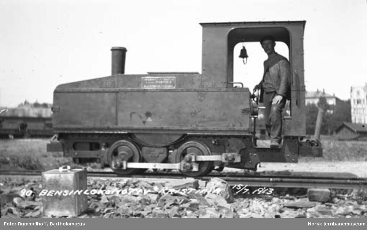 Montania-bensinlokomotiv til Drammenbanens ombygging