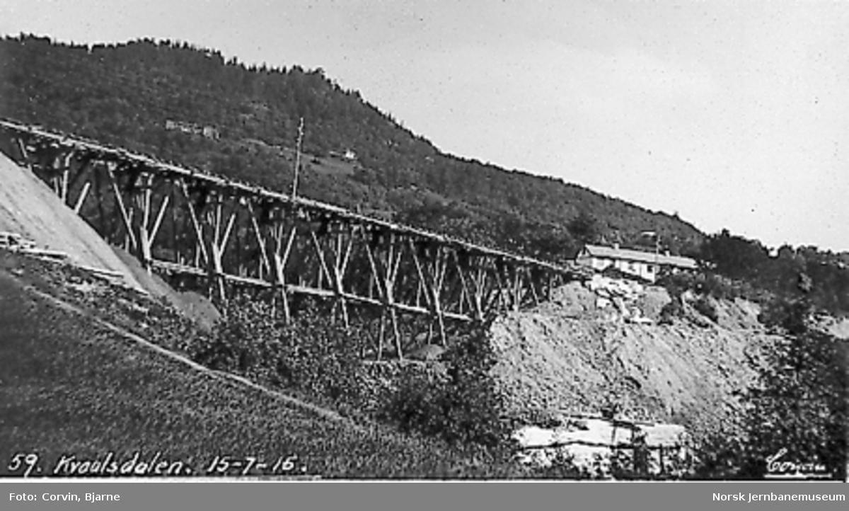 Kvålsdalen viadukt, nedfylling er i gang